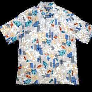 Tori Richard Silk Aloha Hawaiian Retro Tiki Shirt
